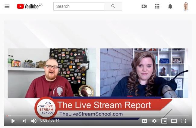 Live stream report