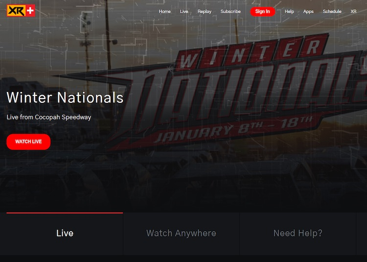 Winter Nationals - live streaming website