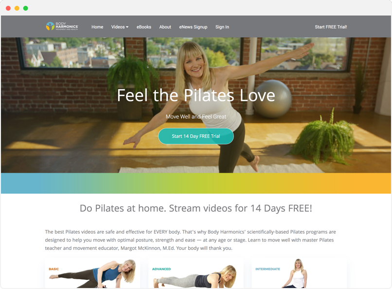 Body Harmonics Homepage Preview
