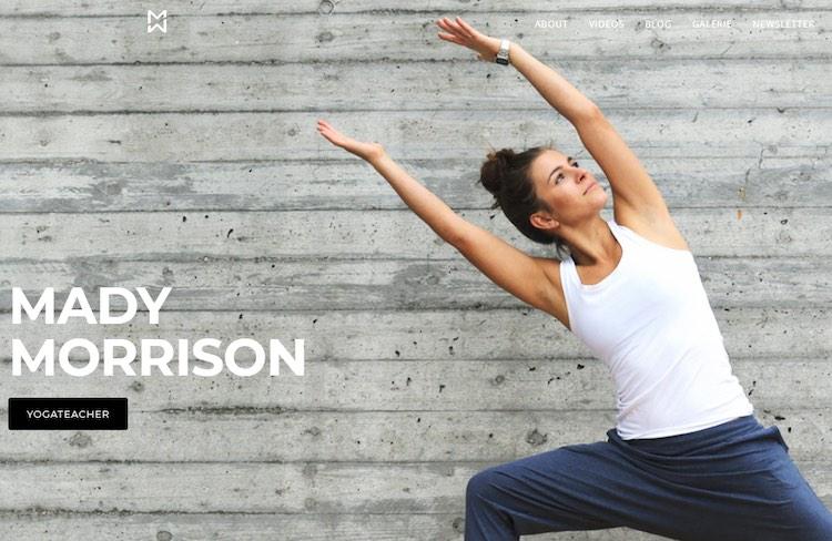 Mady Morrison yoga homepage