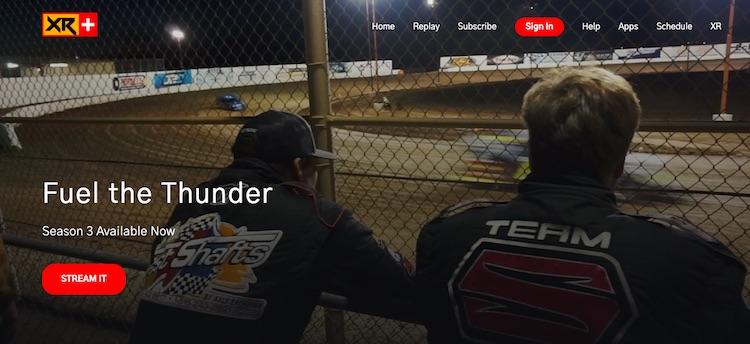 Race XR Plus homepage
