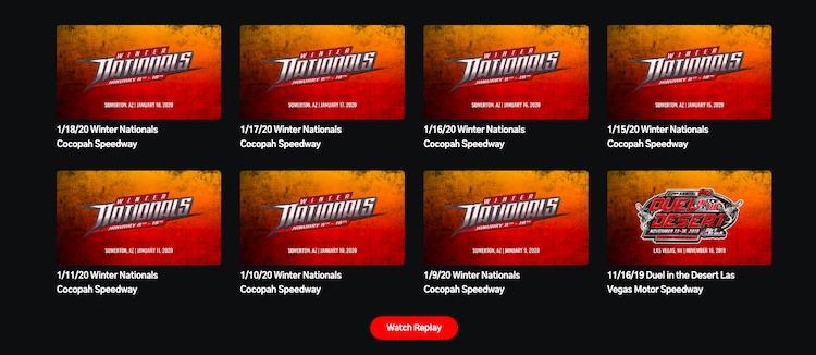 Race XR plus video catalog