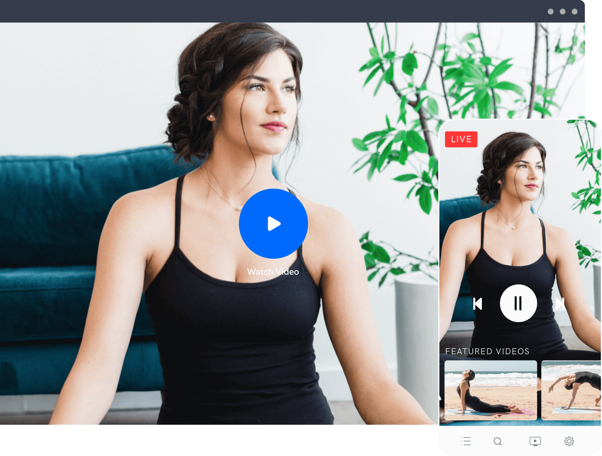 Sarah Beth Yoga's OTT service on Mobile and TV