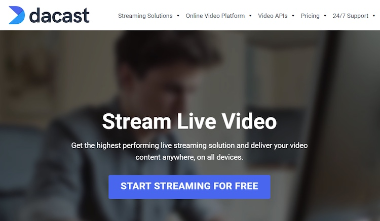 Dacast homepage