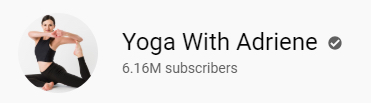 Yoga with Adriene YouTube subscribers