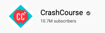 CrashCourse YouTube channel subscriber count