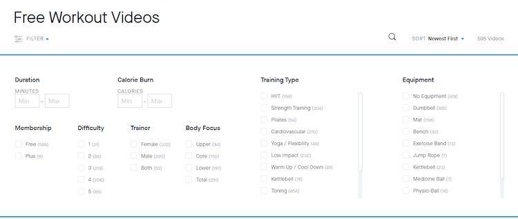 Fitness Blender free workout videos website