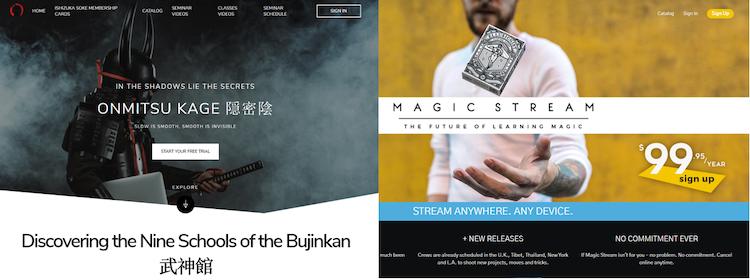 Onmitsku Kage and Magic Stream Uscreen customized video websites