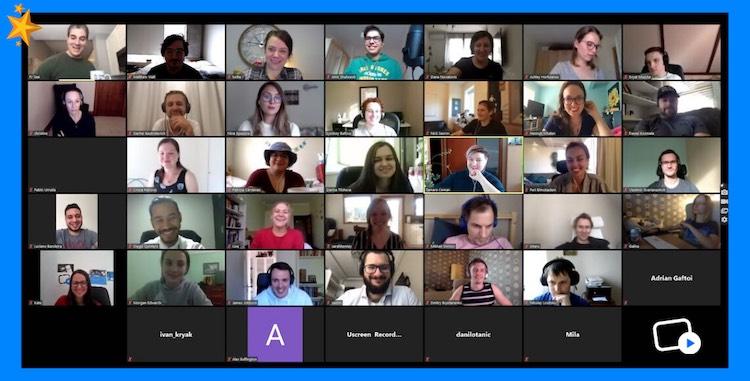 Uscreen company meeting on Zoom