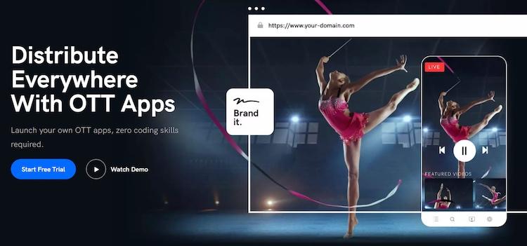 Uscreen create ott apps webpage