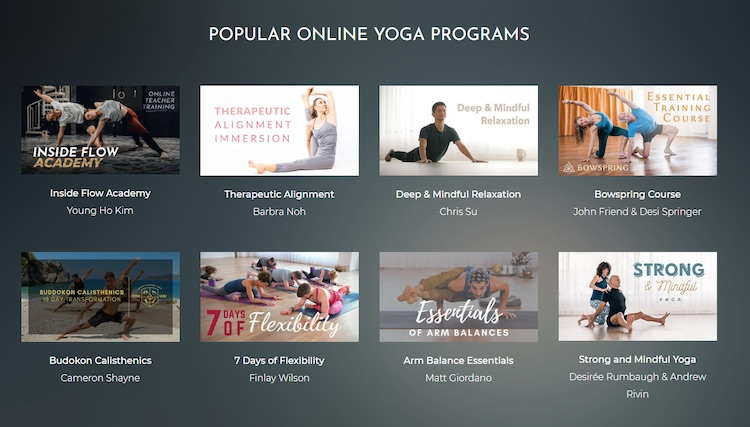 Uscreen TINT Yoga video subscription catalog