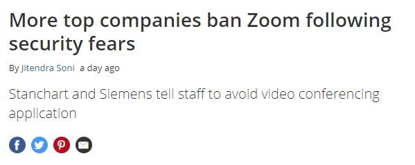 Zoom security issues headline