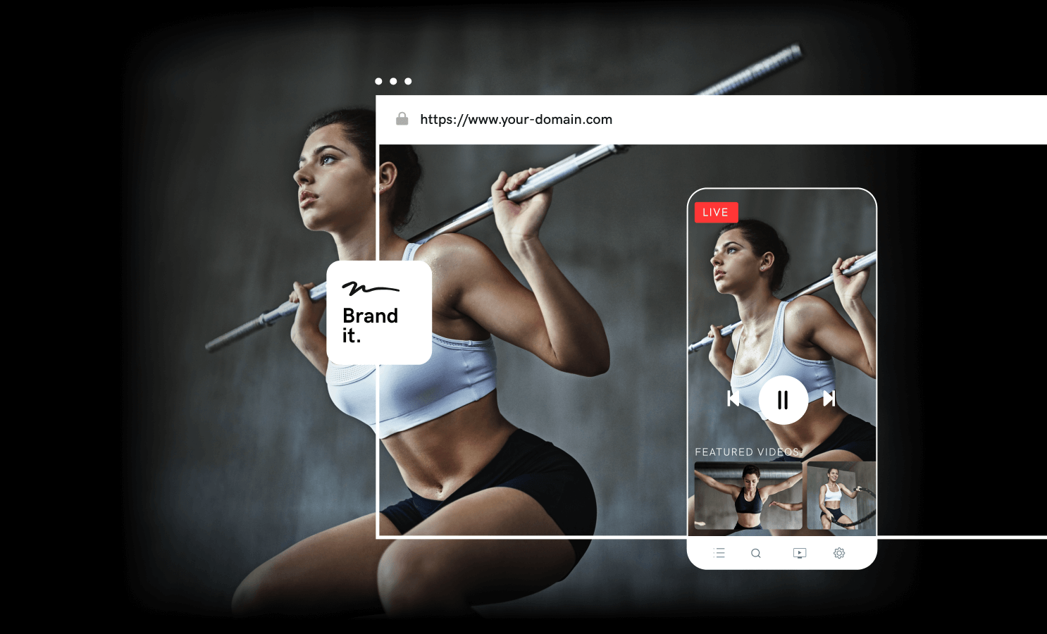 Fitness video streaming site