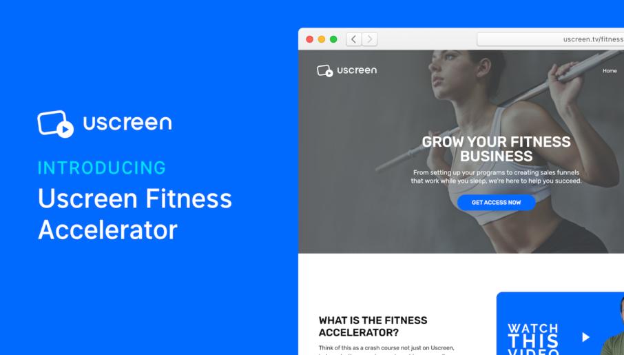 Uscreen Fitness Accelerator Feature