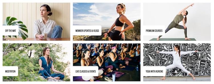 Find What Feels Good Yoga membership Homepage