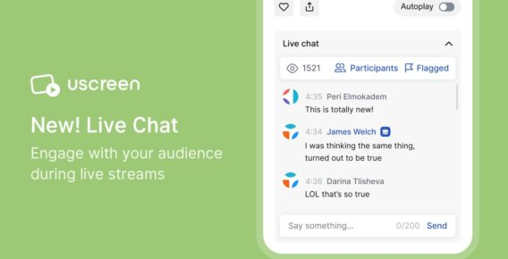 Live chat - Uscreen
