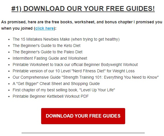 Nerd Fitness free email guide