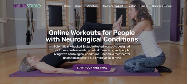 Neurostudio neurological workouts homepage