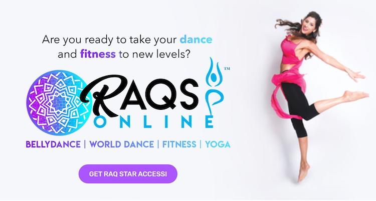 Raqs Online homepage