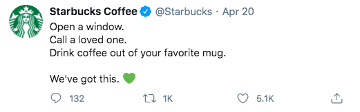 Starbucks tweet