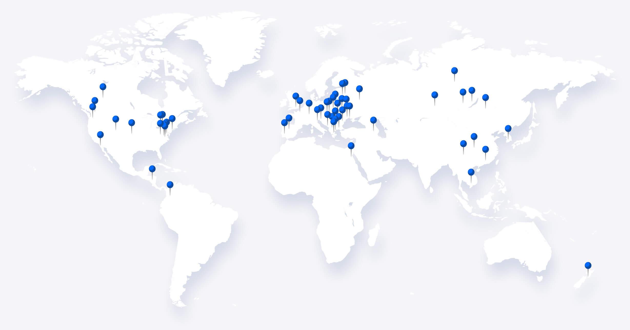 Uscreen team location map