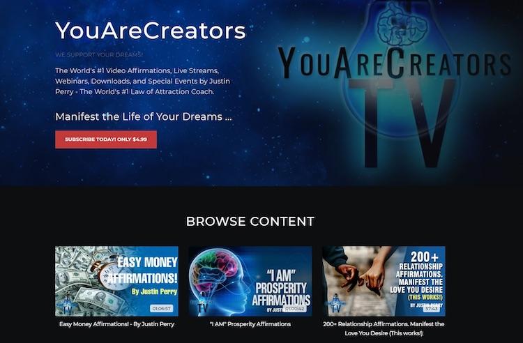 You Are Creators homepage