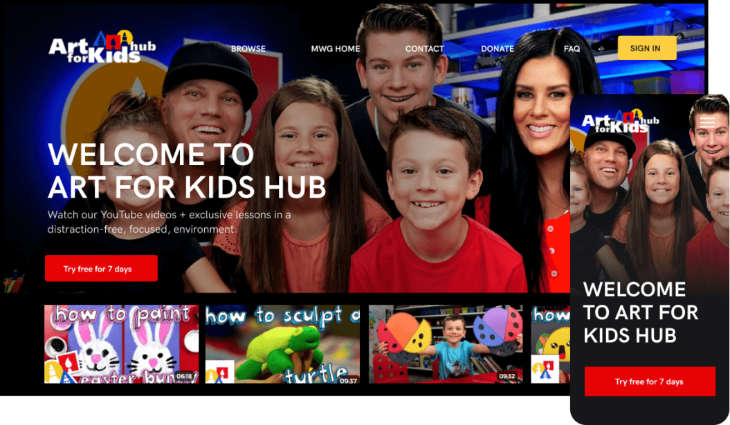 Art For Kids Hub VOD service