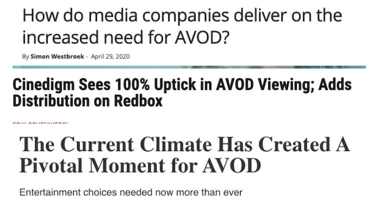 AVOD headlines