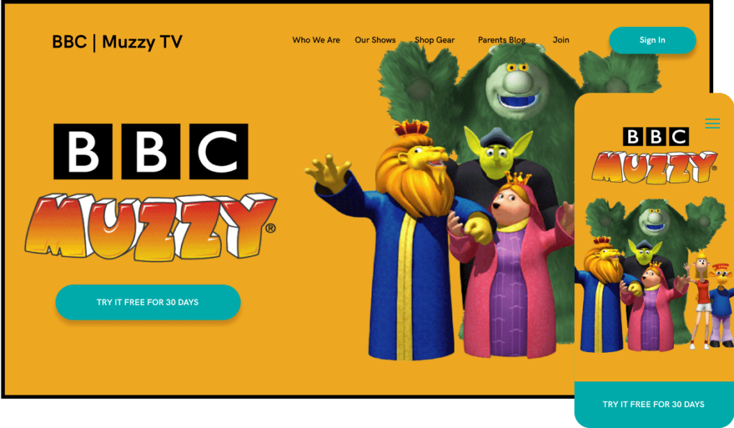 BBC Muzzy Kids Streaming Service