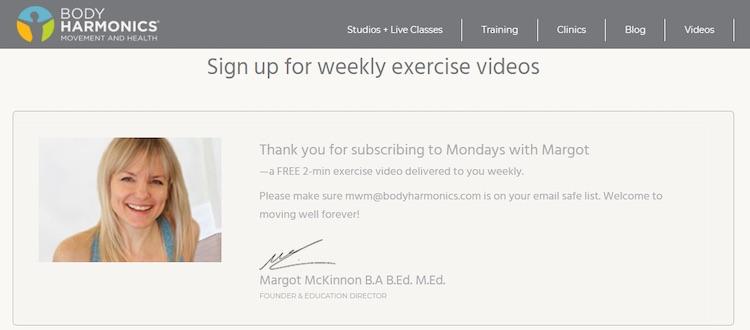 Body Harmonics Mondays with Margot