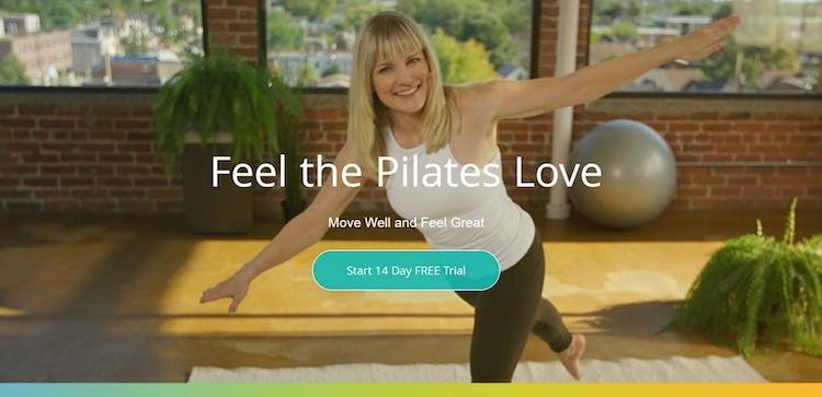 Body Harmonics Pilates SVOD homepage