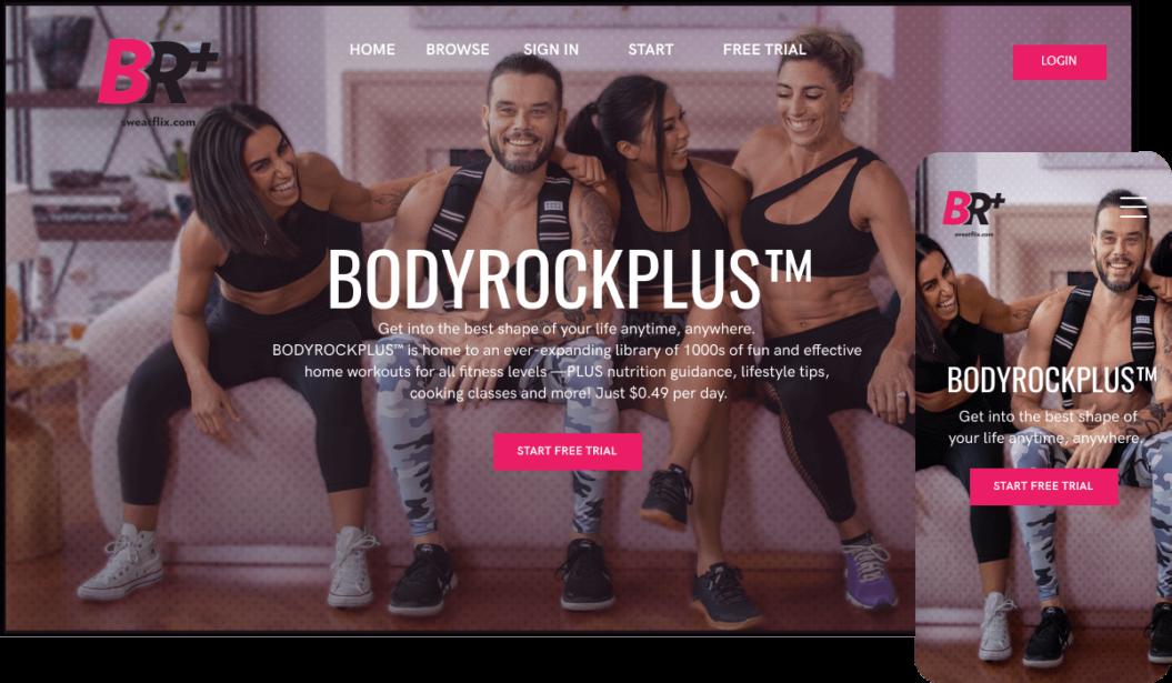 BodyRockPlus Fitness SVOD service