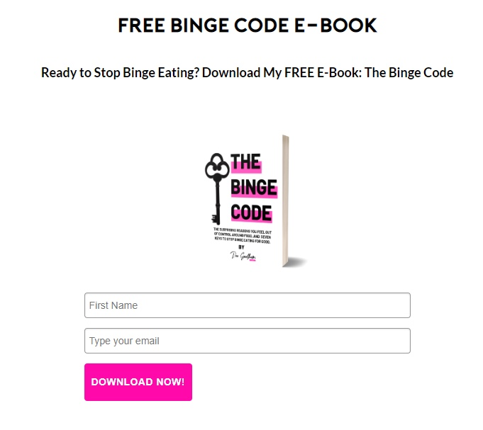 Dee Gauthan email eBook incentive example