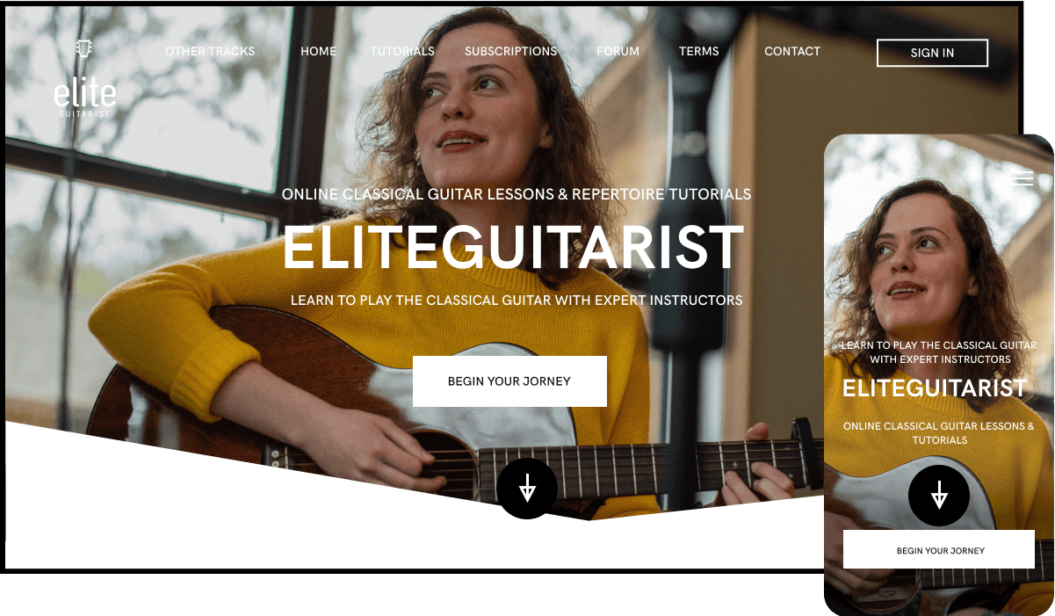 Elite Guitarist Arts Streaming Service