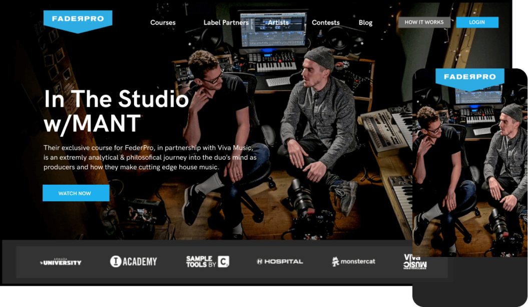 FaderPro Music eLearning VOD Service