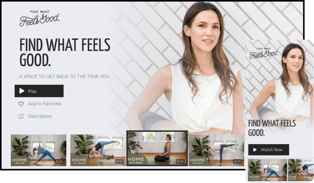 Yoga With Adriene's Find What Feels Good VOD service