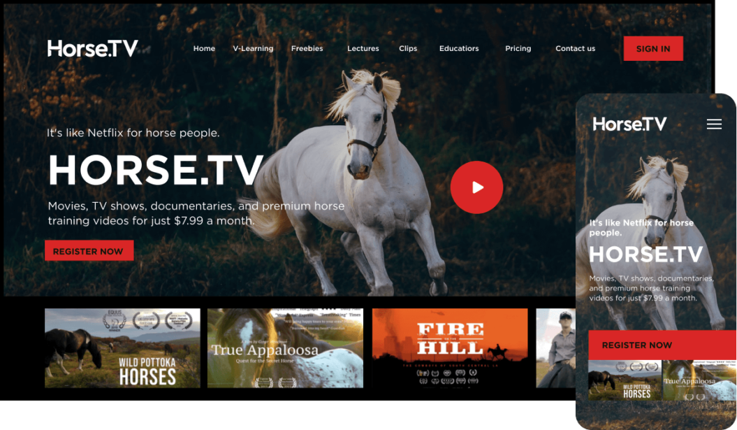 Horse TV eLearning Streaming Service