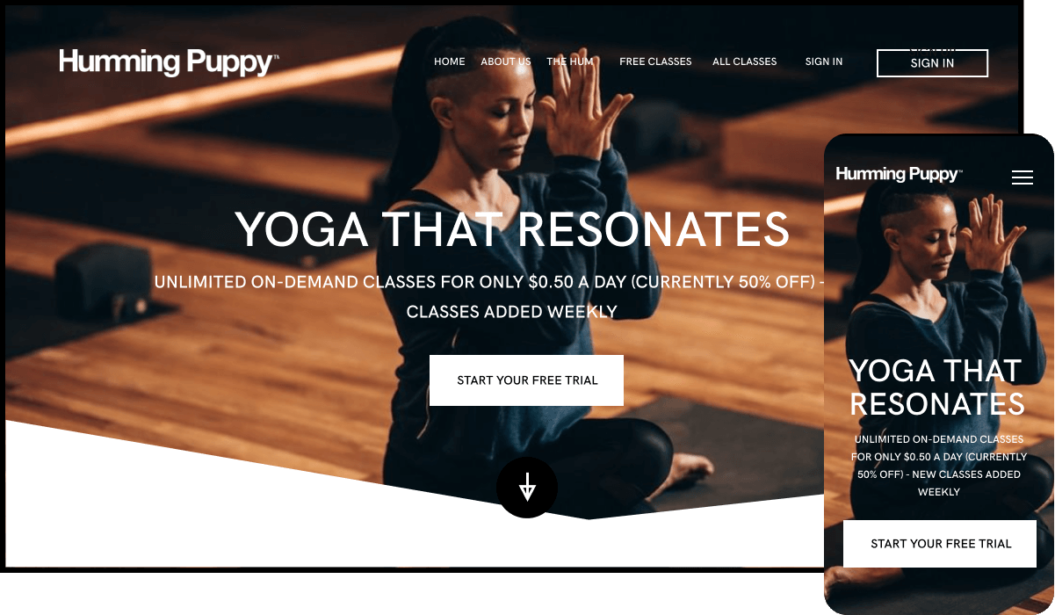 Humming Puppy Yoga SVOD service