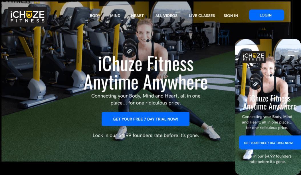 iChuze Fitness VOD service