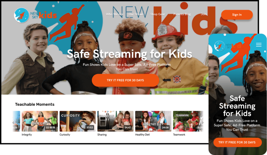 New Sky Kids VOD service