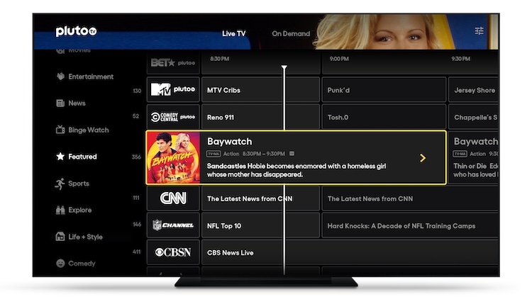 Pluto TV streaming guide