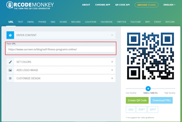 QR code monkey website
