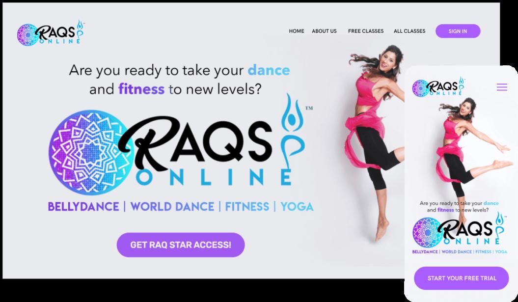 Raqs Online VOD service