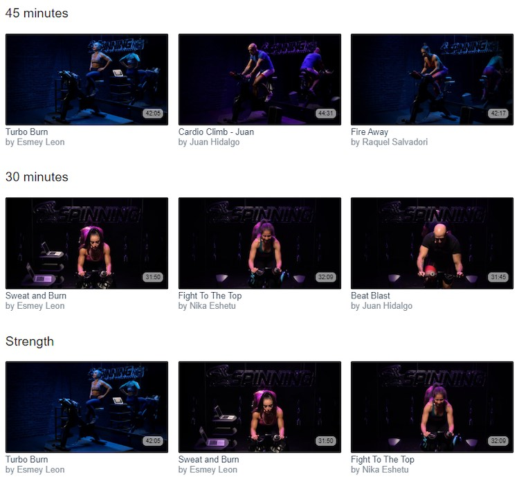 Spinning Digital video categories