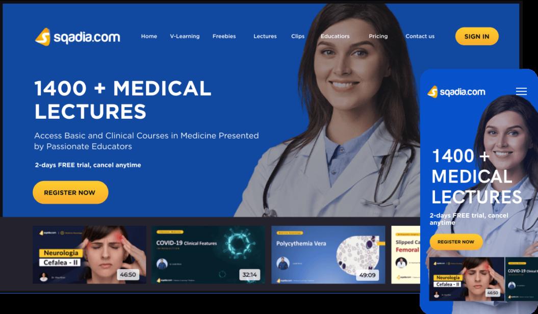 Sqadia Medical eLearning service