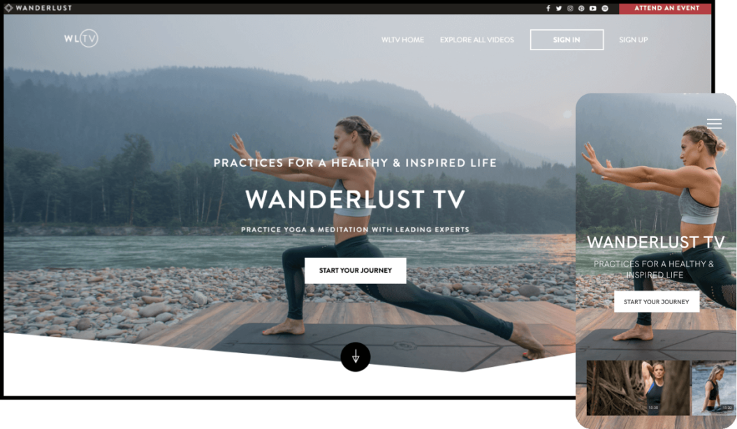 Wanderlust on-demand yoga TV