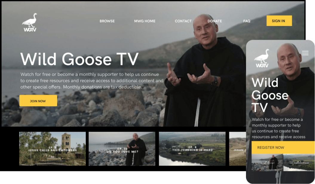 Wild Goose TV Faith & Spirituality Stream service