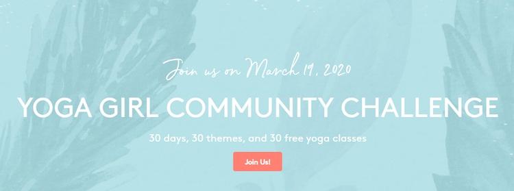 Yoga Girl community challenge incentive