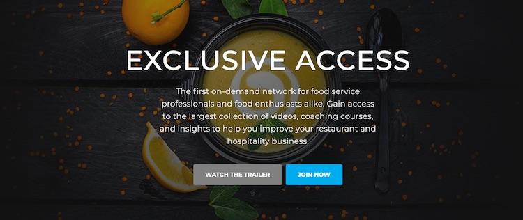 Foodable TV homepage