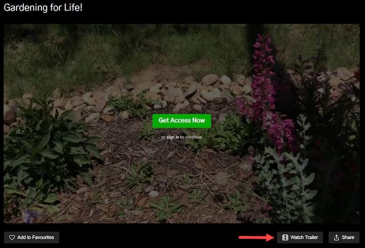 Gardening video trailer